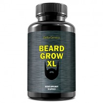 Beard Grow XL: Facial Hair Supplement | #1 Mens Hair Growth Vitamins | For Thicker and Fuller Beard by Delta Genesis