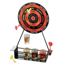 Crystal Clear Shot Glass Darts Bar Game Set