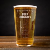Personalised Pint Glass – Beer Goggles